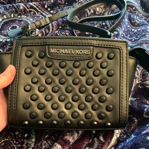 NWT Michale Kors Black Selma Stud Crossbody